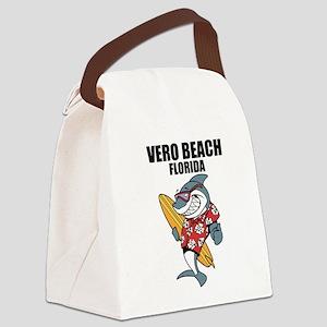 Vero Beach, Florida Canvas Lunch Bag
