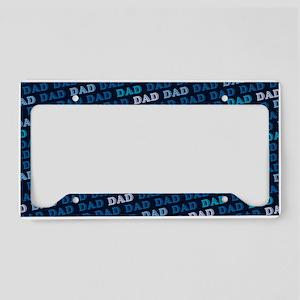 Dad Pattern License Plate Holder