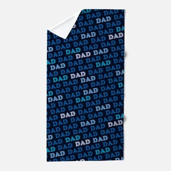 Dad Pattern Beach Towel