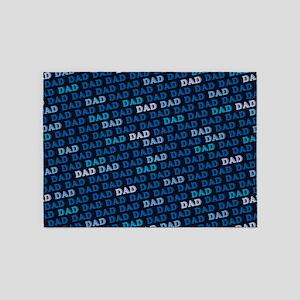 Dad Pattern 5'x7'Area Rug