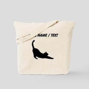 Custom Cat Stretching Tote Bag