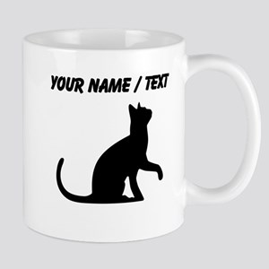 Custom Cat Sitting Mugs