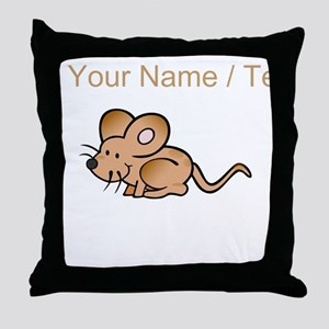 Custom Brown Mouse Throw Pillow