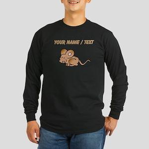 Custom Brown Mouse Long Sleeve T-Shirt