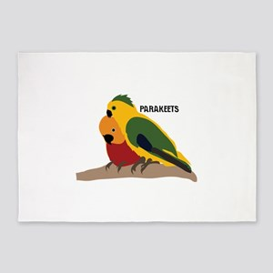Parakeets 5'x7'Area Rug