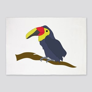 Toucan on a Limb 5'x7'Area Rug