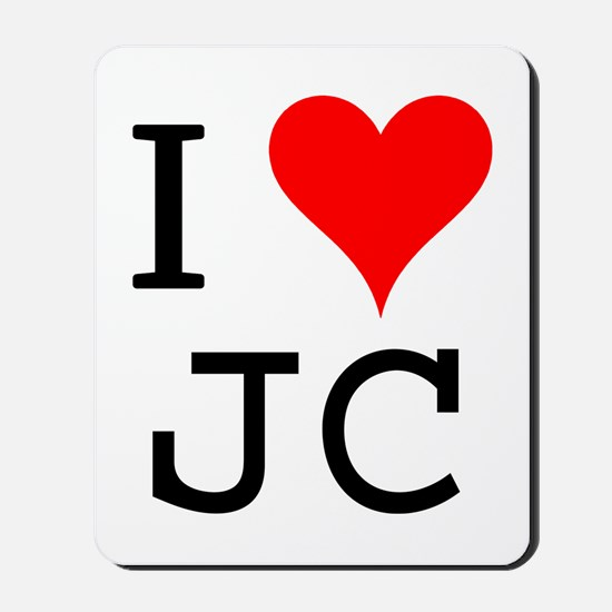 I Love JC Mousepad