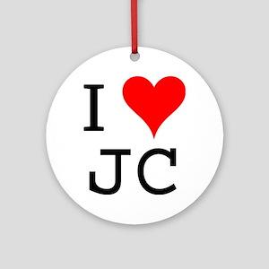 I Love JC Ornament (Round)
