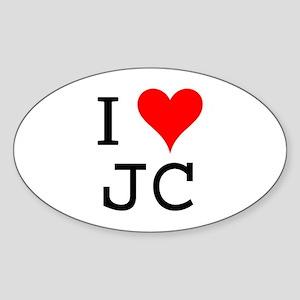 I Love JC Oval Sticker