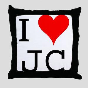 I Love JC Throw Pillow