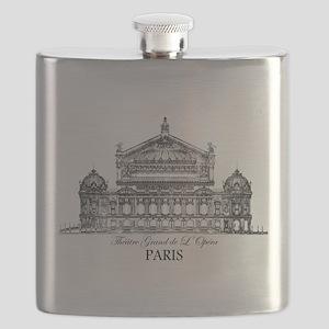 Vintage Grand Opera House, Paris Flask