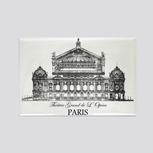 Vintage Grand Opera House, Paris Rectangle Magnet