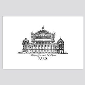 Vintage Grand Opera House, Paris Large Poster