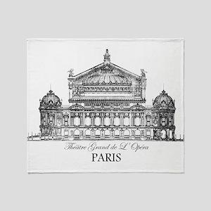 Vintage Grand Opera House, Paris Throw Blanket