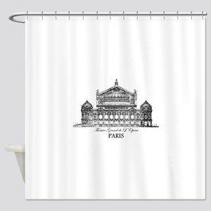 Vintage Grand Opera House, Paris Shower Curtain