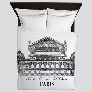 Vintage Grand Opera House, Paris Queen Duvet