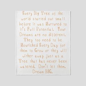 Nurture Your Dreams Throw Blanket