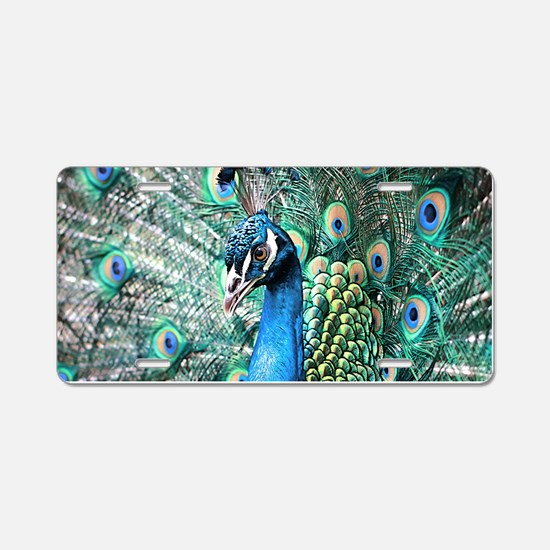 Beautiful Peacock Aluminum License Plate