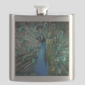 Beautiful Peacock Flask