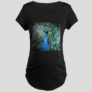 Beautiful Peacock Maternity T-Shirt