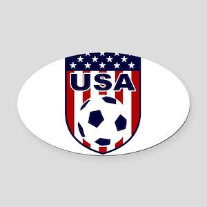 USA soccer Oval Car Magnet