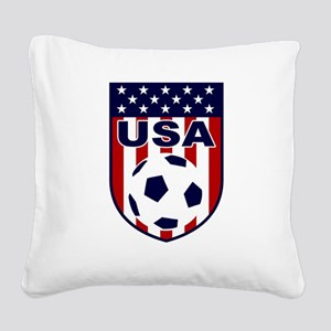 USA soccer Square Canvas Pillow