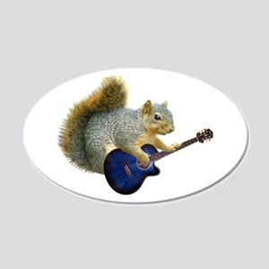 Squirrel Blue Guitar Wall Decal