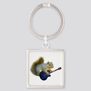 Squirrel Blue Guitar Keychains