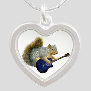 Squirrel Blue Guitar Necklaces