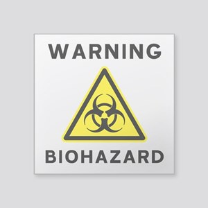 Biohazard Warning Sign Sticker