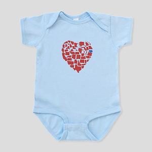 Iowa Heart Infant Bodysuit