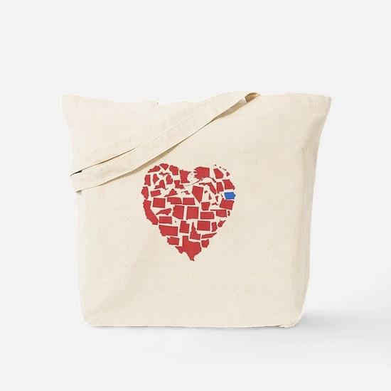 Iowa Heart Tote Bag