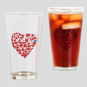 Iowa Heart Drinking Glass
