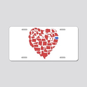 Iowa Heart Aluminum License Plate