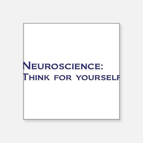 """Cute Science mind Square Sticker 3"""" x 3"""""""