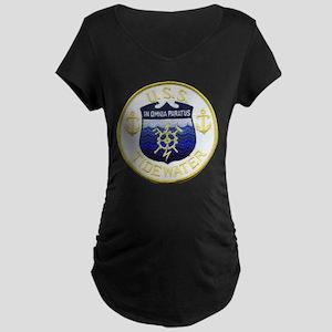 USS TIDEWATER Maternity Dark T-Shirt