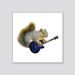 Squirrel Blue Guitar Sticker
