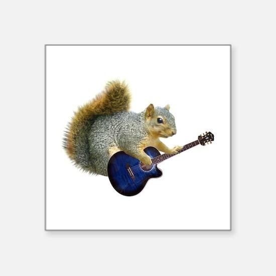 Squirrel Blue Guitar Sticker