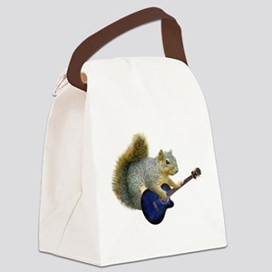 Squirrel Blue Guitar Canvas Lunch Bag