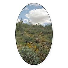 Desert Symphony Sticker (Oval)