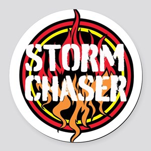 Storm Chaser Round Car Magnet