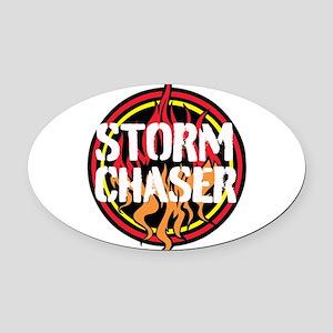 Storm Chaser Oval Car Magnet