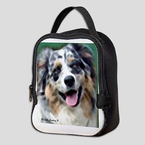 australian shepherd Neoprene Lunch Bag