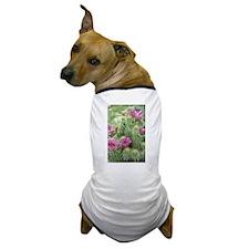 Pink Flower Cactus Dog T-Shirt