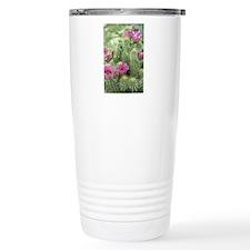 Pink Flower Cactus Stainless Steel Travel Mug