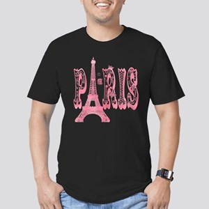 Vintage Paris Eiffel T Men's Fitted T-Shirt (dark)