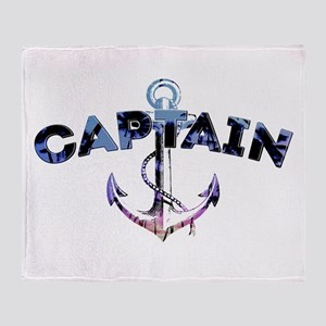 Boat Captain Throw Blanket