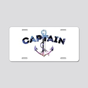 Boat Captain Aluminum License Plate
