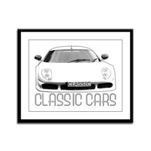 ...Classic Cars... Framed Panel Print