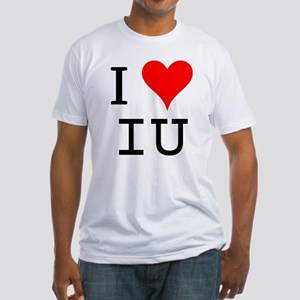 I Love IU Fitted T-Shirt